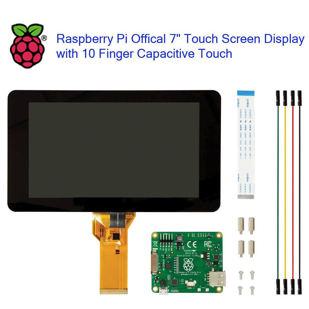 """Raspberry Pi Official 7"""" Touch Screen Display with 10 ..."""