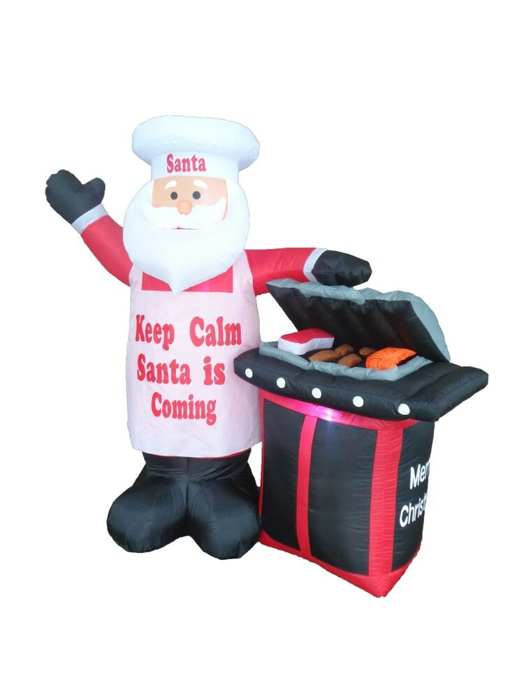 christmas inflatable santa bbq barbecue grill new 2016