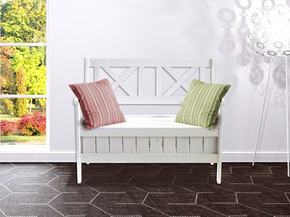 truhenbank sitzbank k chenbank holzbank landhaus shabby chic 108 cm ebay. Black Bedroom Furniture Sets. Home Design Ideas