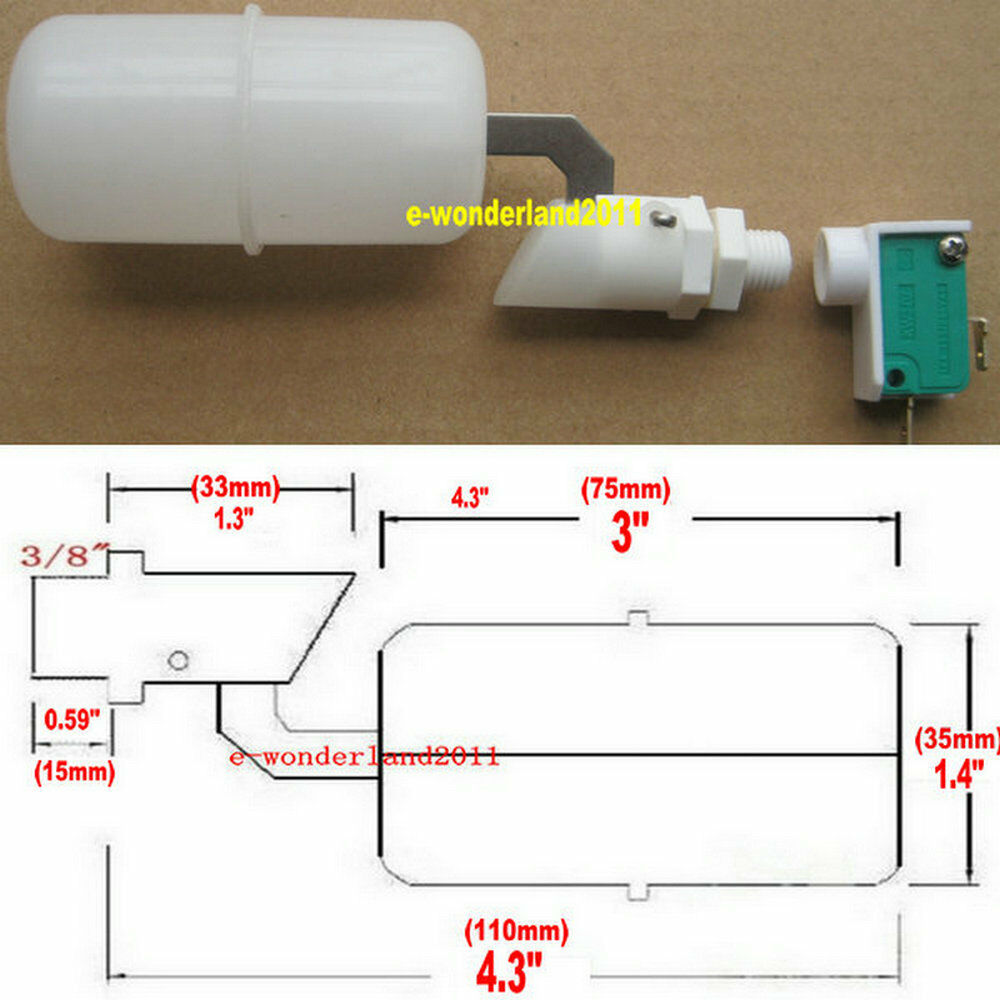 3 8 float switch water level sensor for hydrologic auto