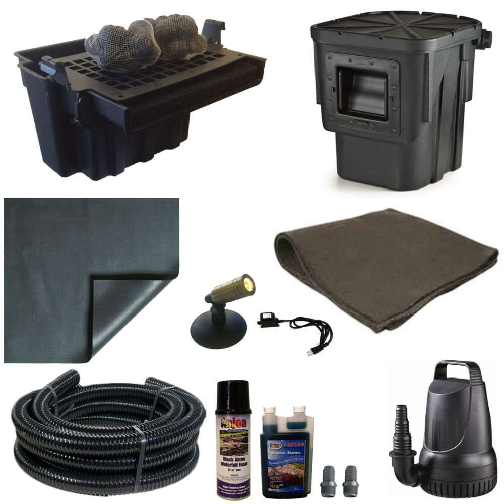 10 x 15 small pond kit 3200gph pump atlantic 16 waterfall for Garden pond kit