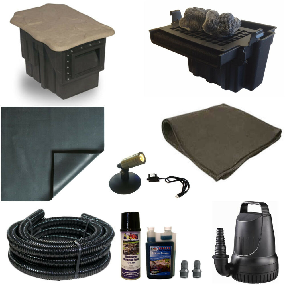 15 x 20 small pond kit 3200gph pump 16 waterfall crystal skimmer tgpvcsc0 ebay Small waterfall kit