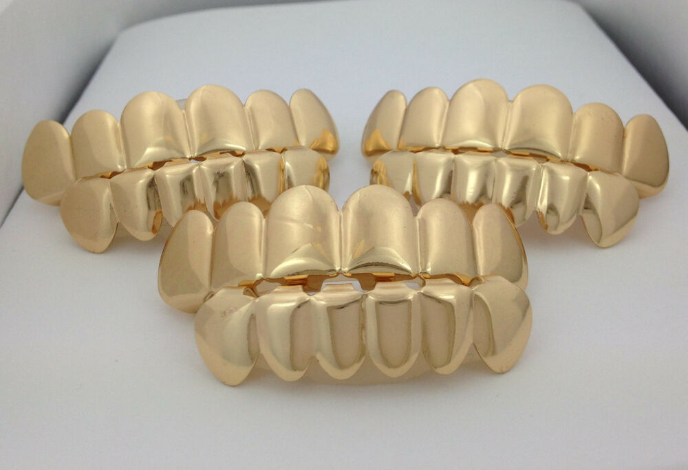 *CHEAP GOLD PLATED GRILLZ SALE* LOT OF 3 *IMPERFECT*SETS ...