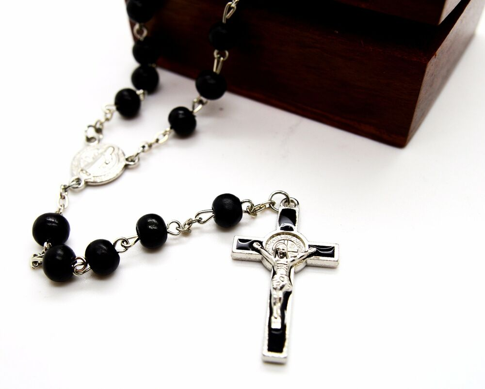 black singles in saint benedict Black wood rosary beads catholic st saint benedict intercession men  made  in usa our lady of mount carmel single decade rosary w st benedict crucifix.