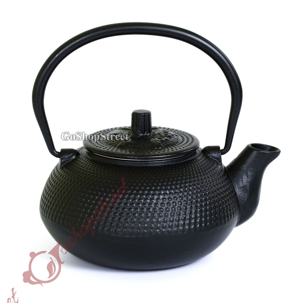 600ml Black Hobnail Tetsubin Kettle Cast Iron Tea Pot With Infuser Filter Teapot Ebay