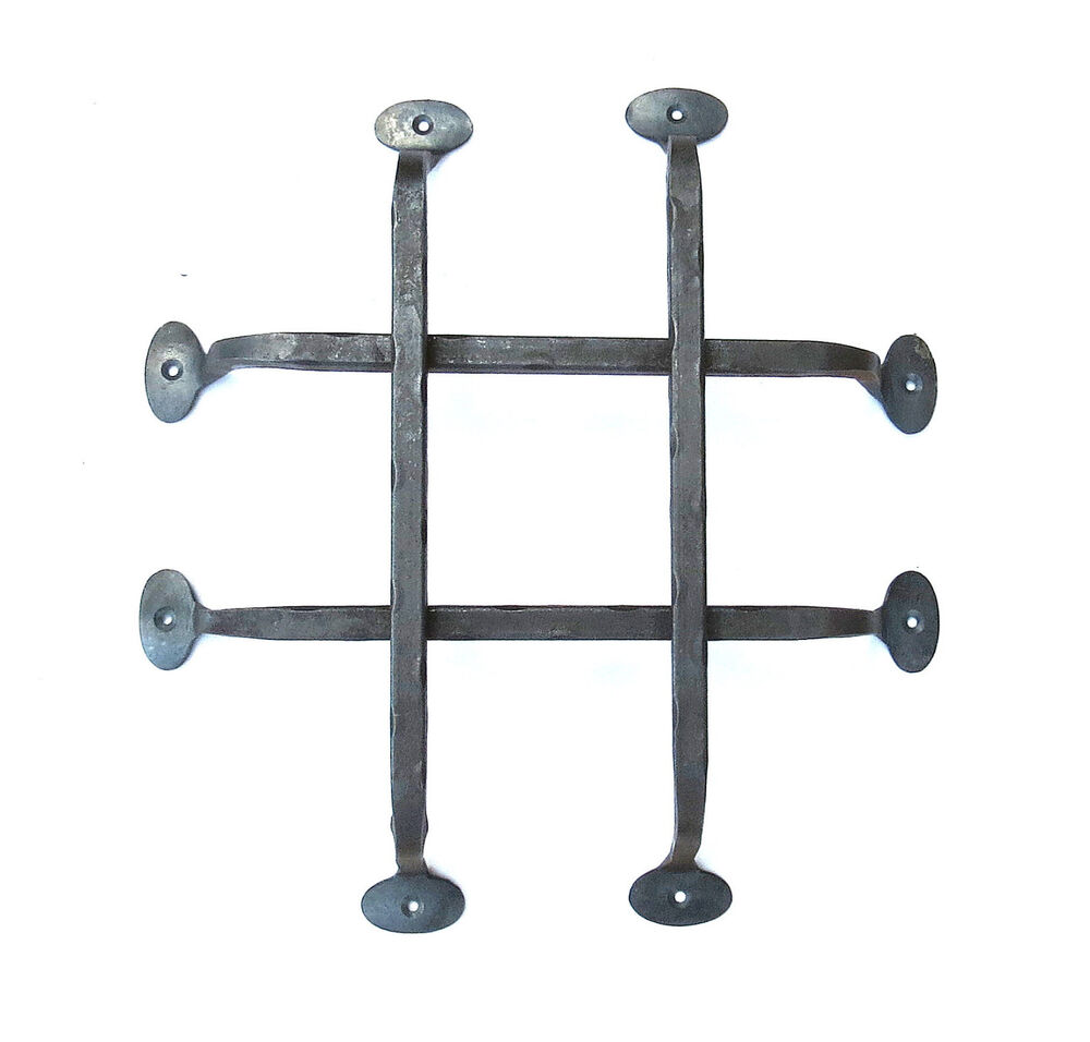 Forged Gate Latch Bar : Hand forged front door grill wrought iron rustic