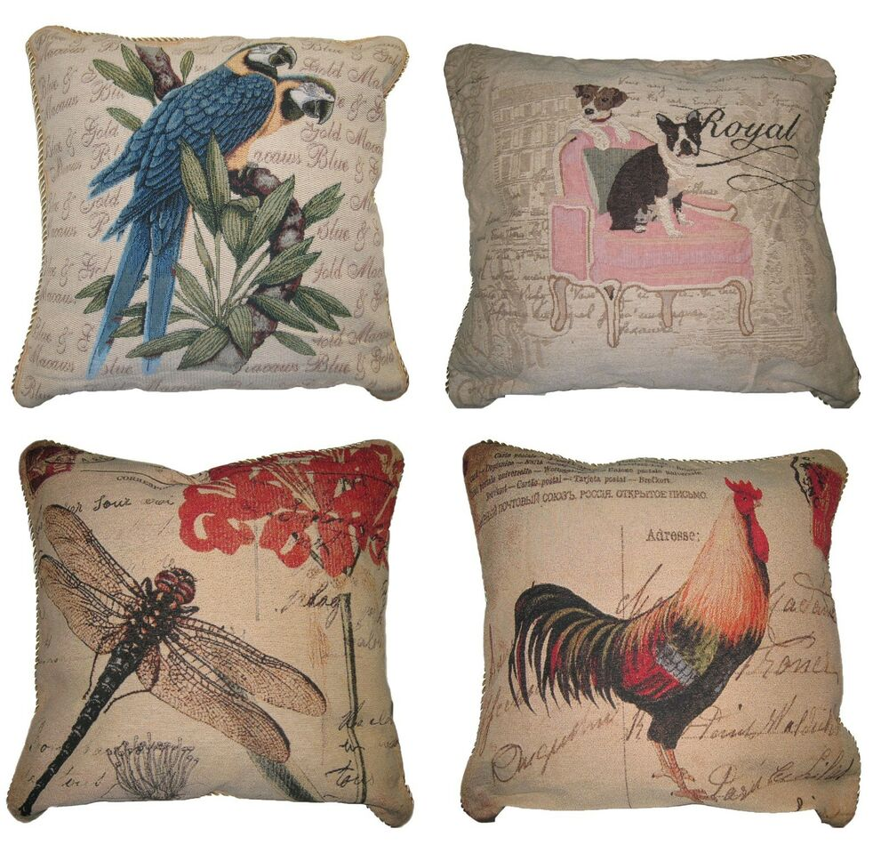 Dada Bedding Vintage Animal Bird Dog Insect Accent Square