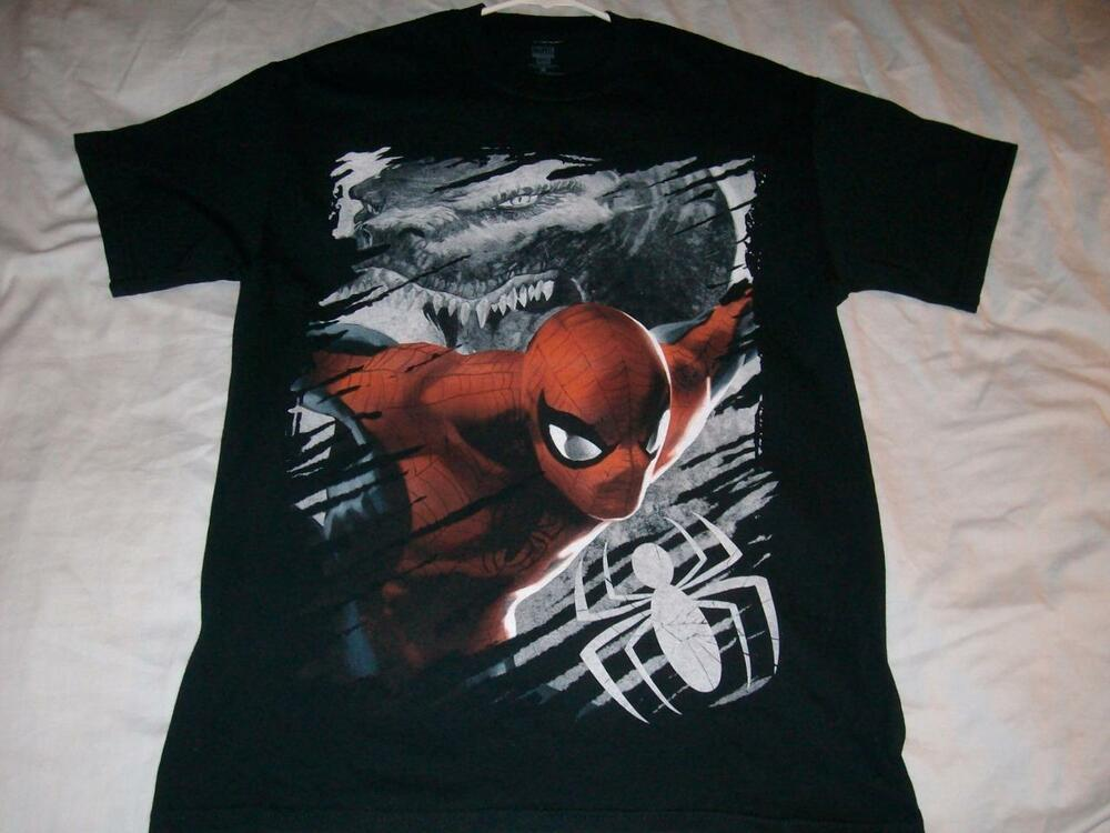 The Amazing Spider Man Lizard Movie Marvel Black T Shirt
