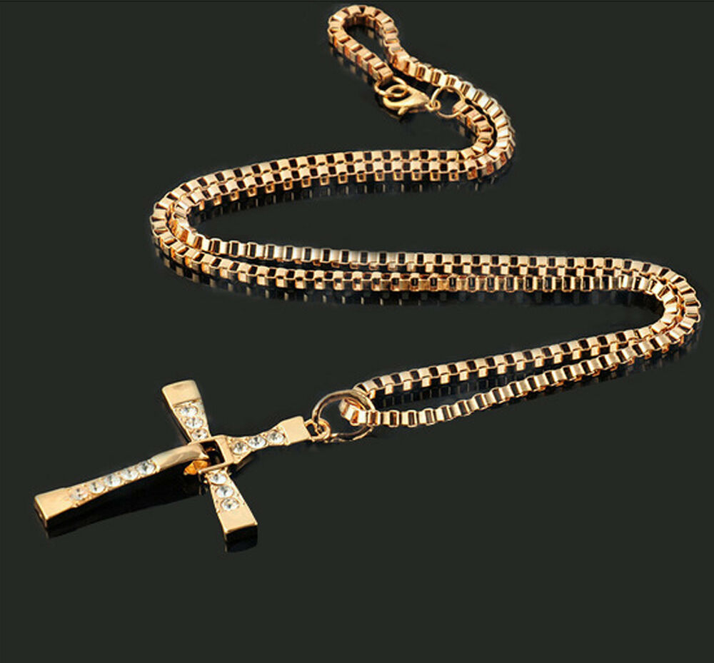 fast and furious vin diesel toretto s gold cross pendant