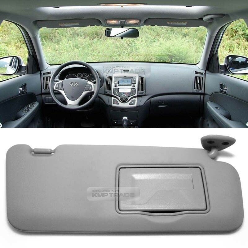 oem interior hand sun visor shade right gray for hyundai. Black Bedroom Furniture Sets. Home Design Ideas