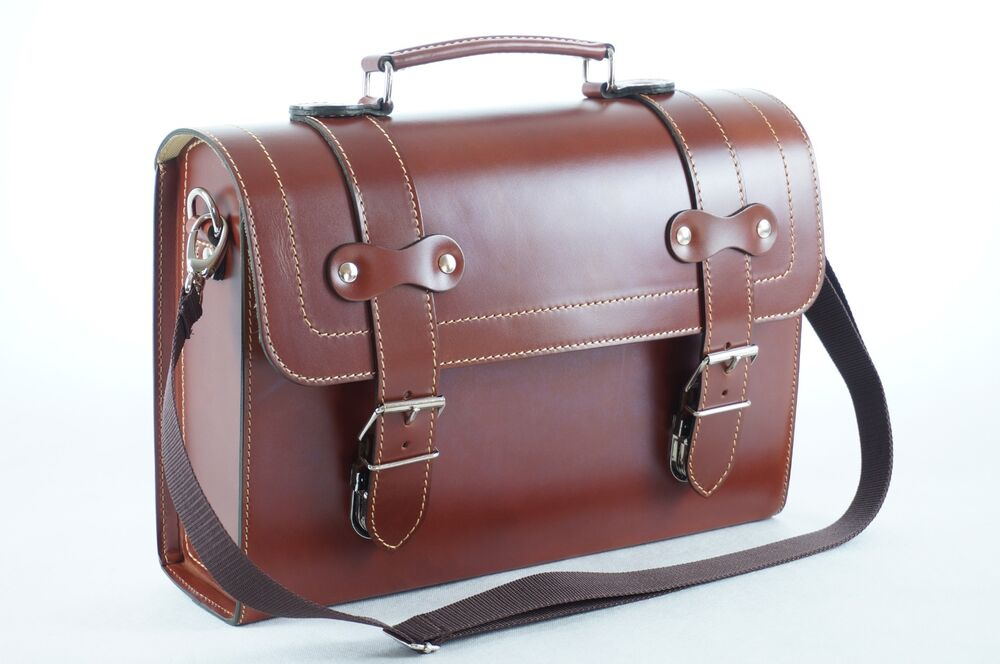 leather top case shoulder laptop messenger bag briefcase vespa vintage brown ebay. Black Bedroom Furniture Sets. Home Design Ideas