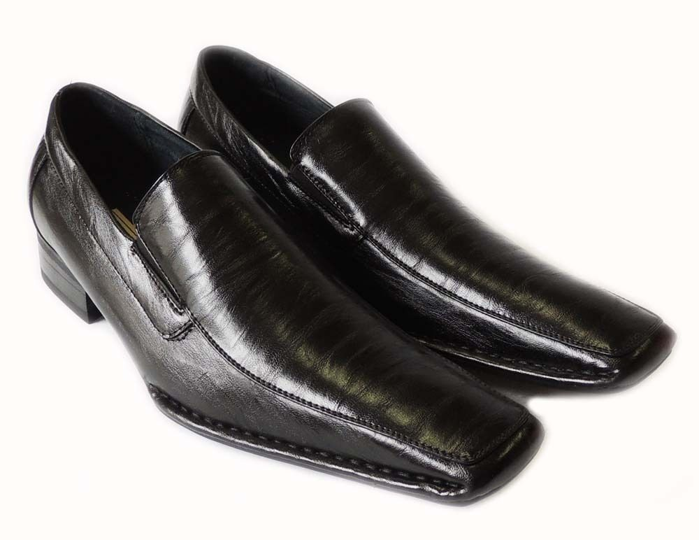 new mens loafers slip on comfort leather lined dress shoes