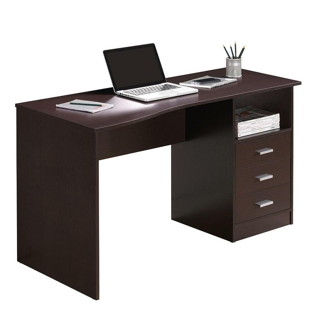 Classy Computer Workstation Desk with Three Storage Drawers | eBay