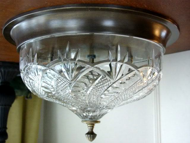 Waterford Crystal Seahorse Flush Mount Ceiling Fixture