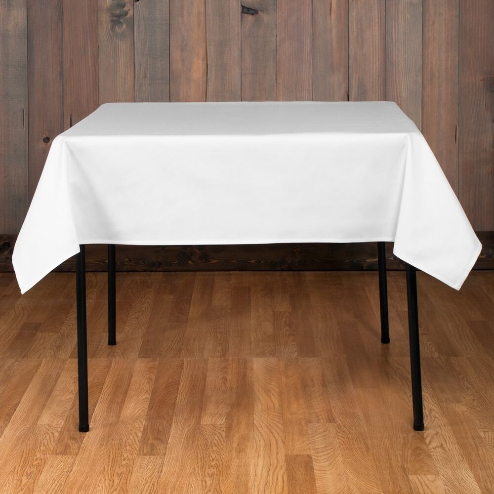 "5 Square Tablecloths 54x54"" inch Polyester Table Overlay ..."