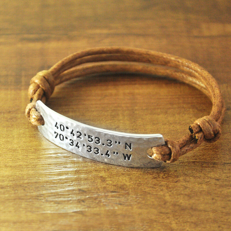 Personalized Coordinates Rope Bracelet, Customized. 925 Silver Anklet. Blue Saphire Rings. Konstantino Rings. Anklet Bracelet Pandora. Wedding Engagement Rings. Cremation Urn Necklace. Belly Dance Earrings. Lady Rings