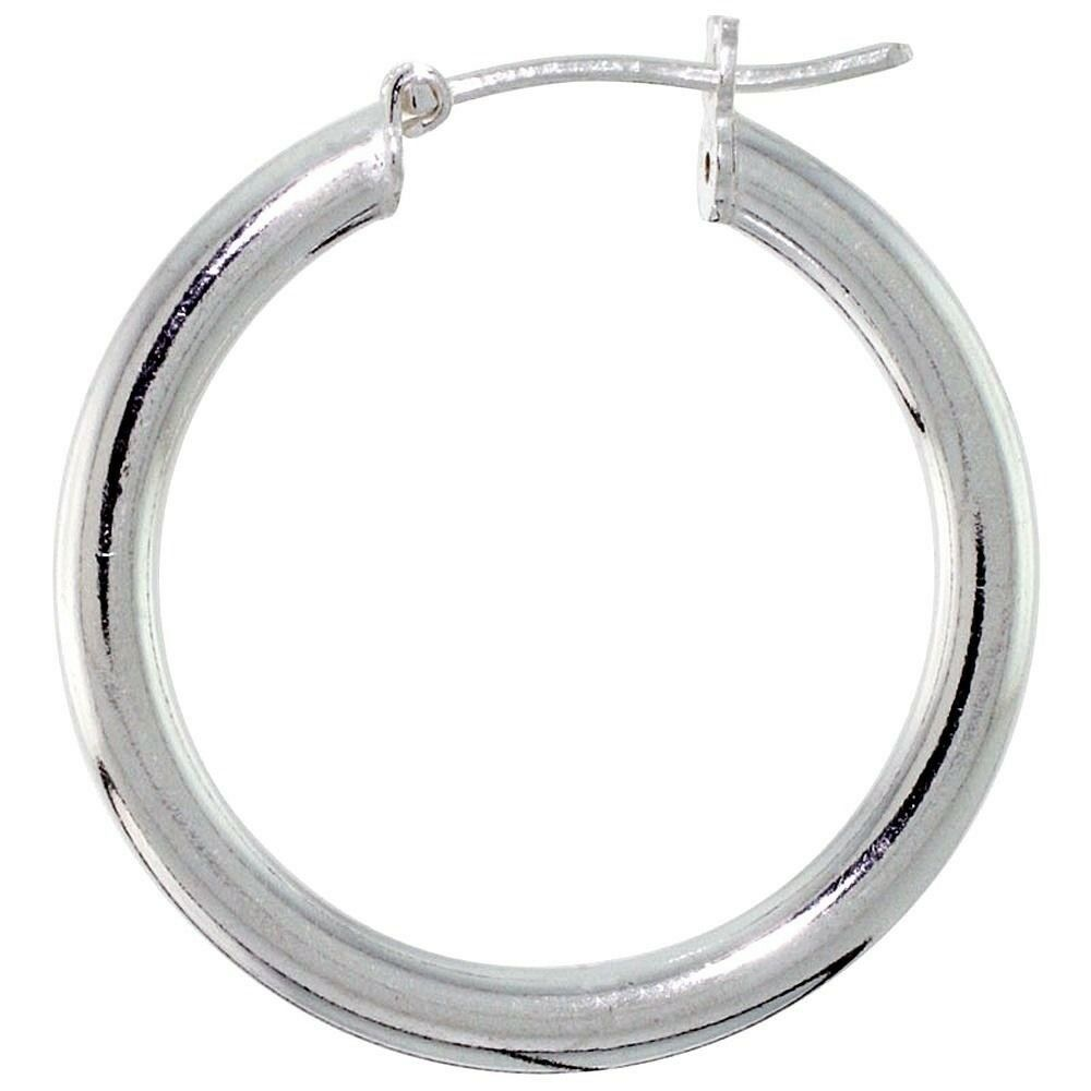 16 hoop earrings 925 sterling silver italian hoop earrings 3mm thick 1 1 9265