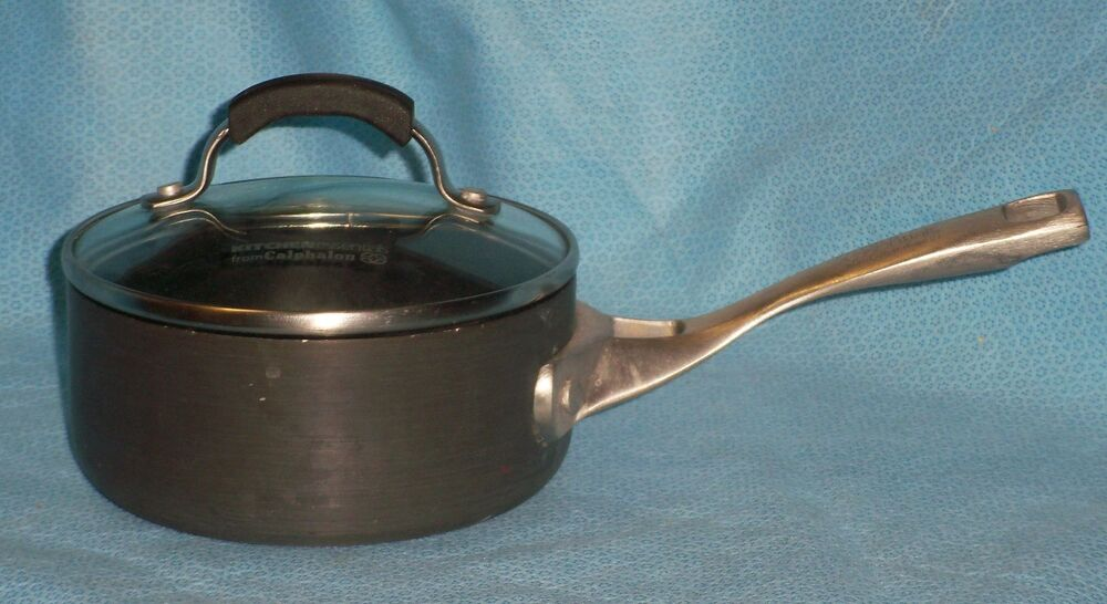 Calphalon Kitchen Essentials Nonstick 1 Qt Sauce With Cover Lid 8701 Ebay