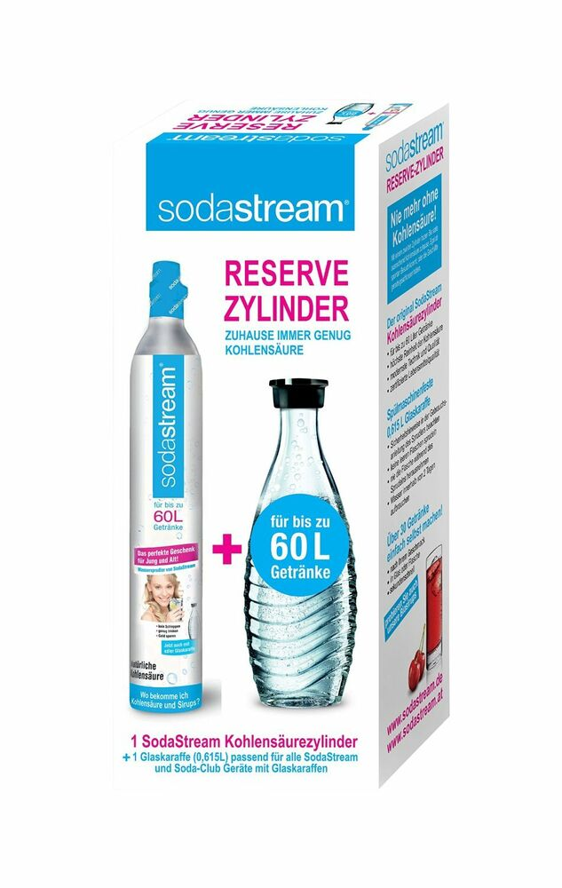 reservepack kohlens ure zylinder sodastream glaskaraffe reserve co2 zylinder ebay. Black Bedroom Furniture Sets. Home Design Ideas