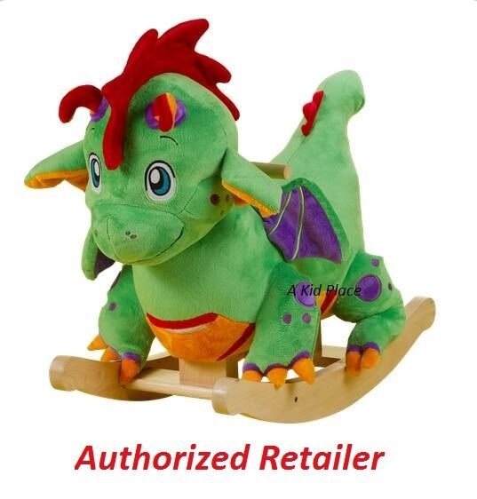 rockabye poof the lil dragon rocker baby rocking horse kids ride0n toy new baby nursery cool bee animal rocking horse