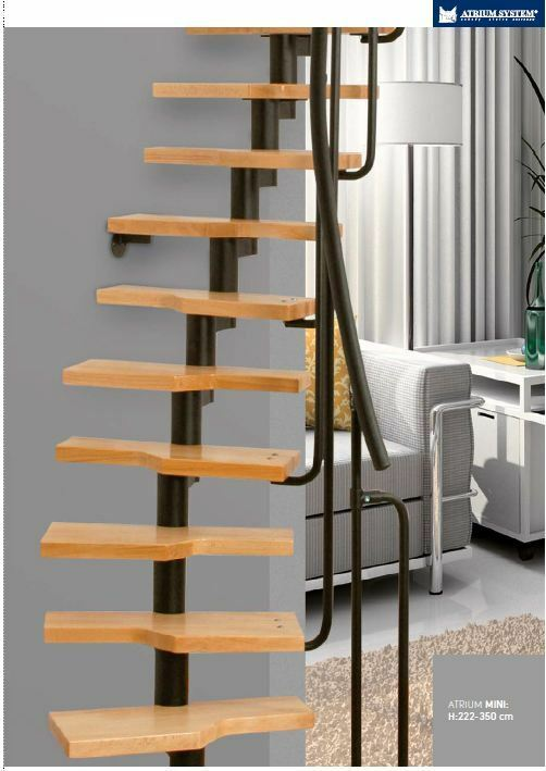 mini space saver spiral loft staircase kit black metal