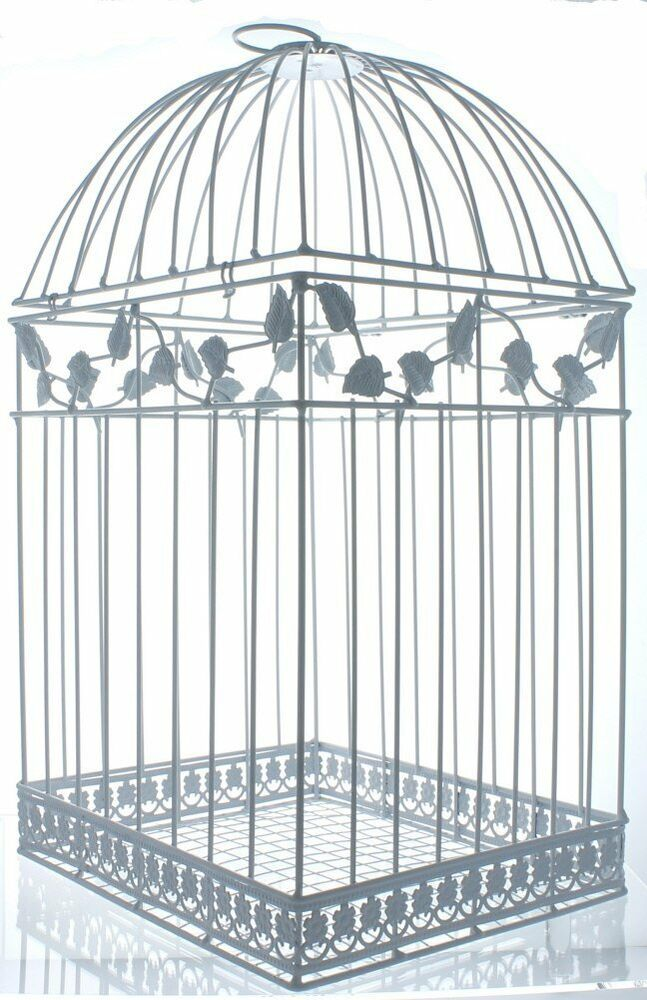 NEW White Birdcage Wedding Gift Card Holder Wishing Well Boxes showers ...