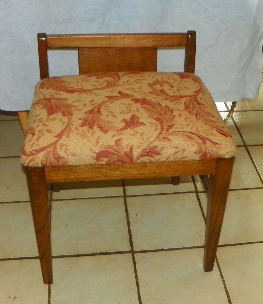 Oak Vanity Bench Vanity Chair Bh Bn176 Ebay