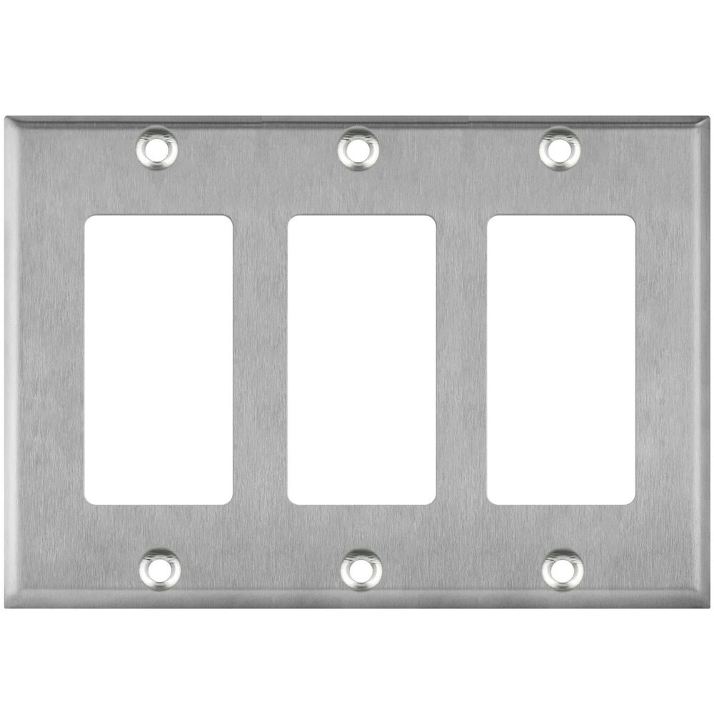 Gang switch plate stainless steel decorator gfci wall