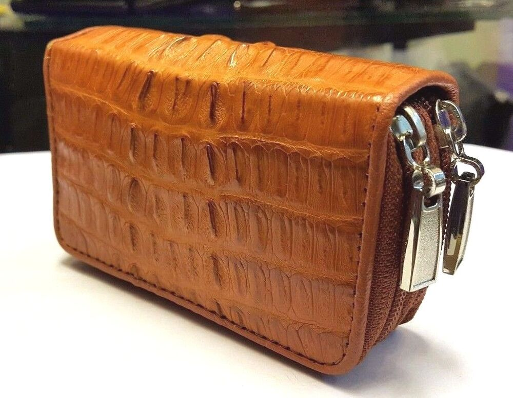 Genuine Crocodile Alligator Skin Leather Keychains Light