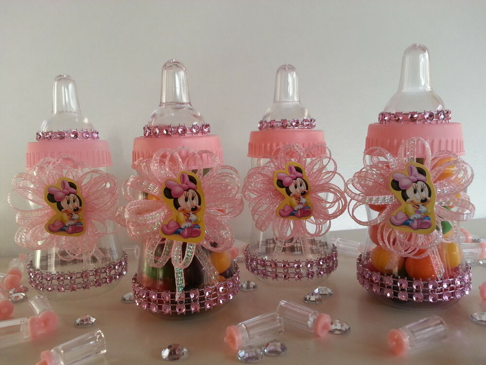12 minnie mouse fillable bottles favors prizes games baby for Baby shower favors decoration