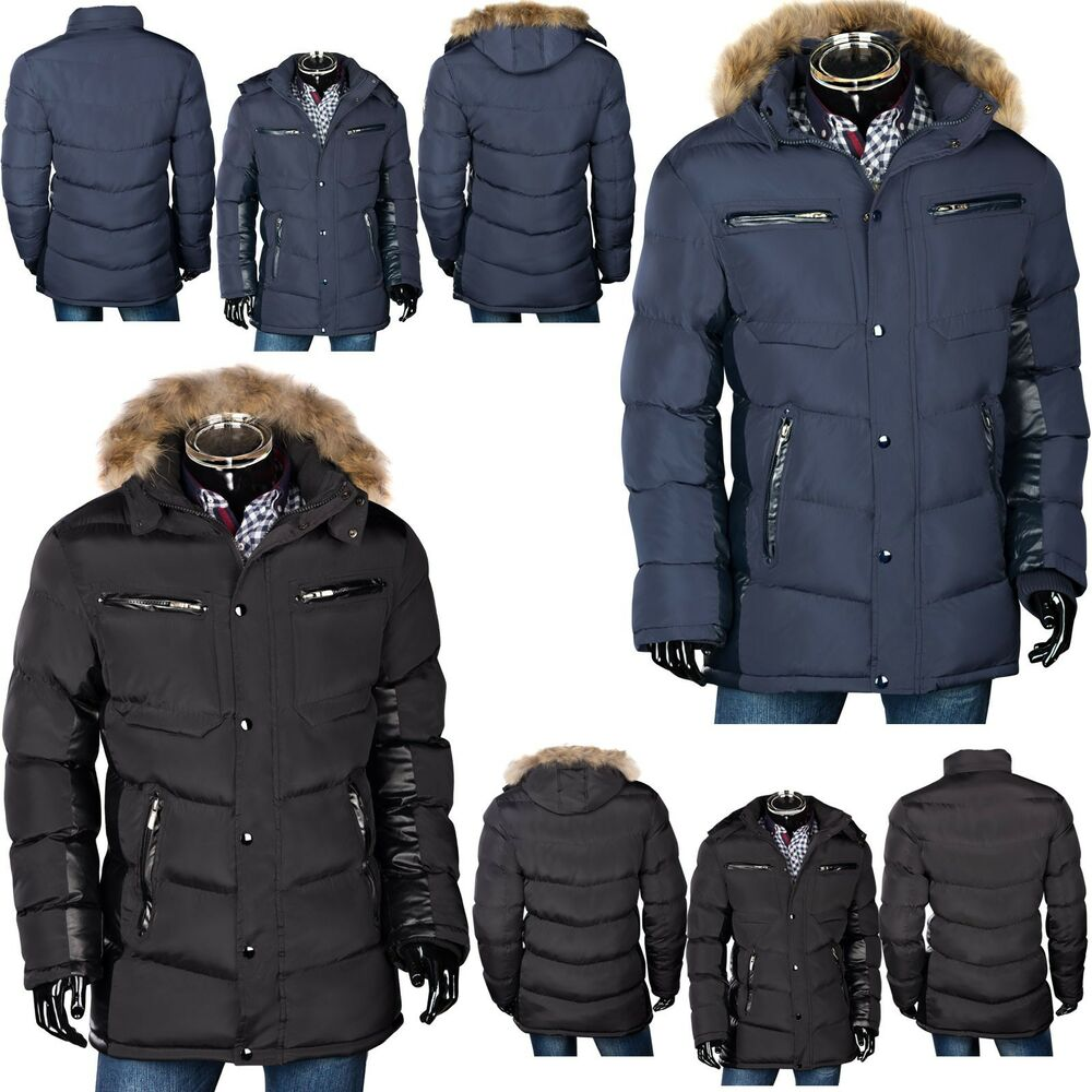 trisens herren winter jacke parka daunen look mantel alaska echt fell kapuze ebay. Black Bedroom Furniture Sets. Home Design Ideas