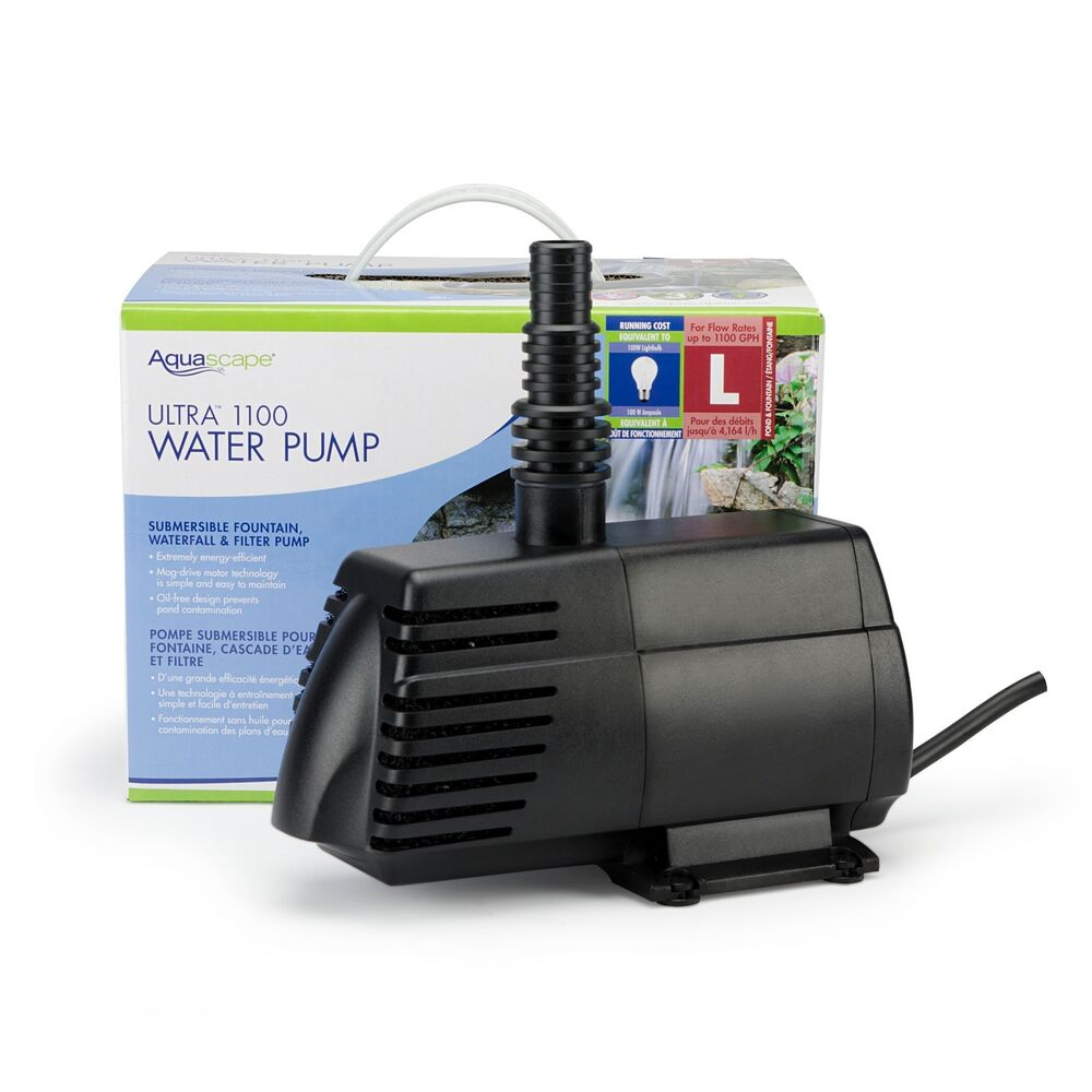 Aquascape ultra 1100 fountain pond pump 91008 ebay for Best small pond pump