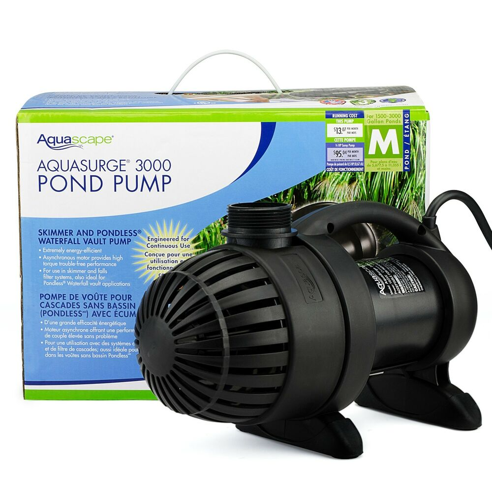 Aquascape aquasurge 3000 waterfall pond pump 91018 ebay for Pond waterfall pump
