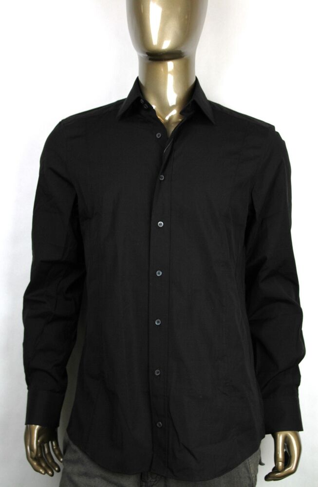 New auth gucci mens fitted cotton button down dress shirt for Cotton button down shirts men