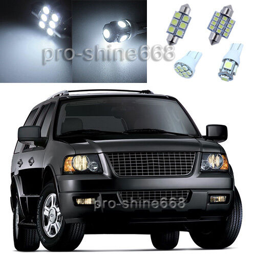 Xenon white led interior 12x lights plate package for ford expedition 2003 2006 ebay for 2006 ford expedition interior parts