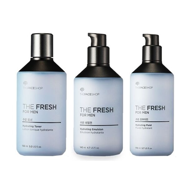 Hydration Skin Care: The Face Shop The Fresh For Men Hydrating Toner, Emulsion