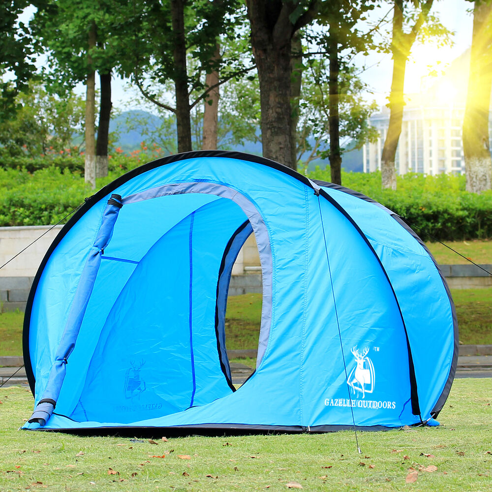 camping hiking easy setup outdoor large pop up tent quick. Black Bedroom Furniture Sets. Home Design Ideas