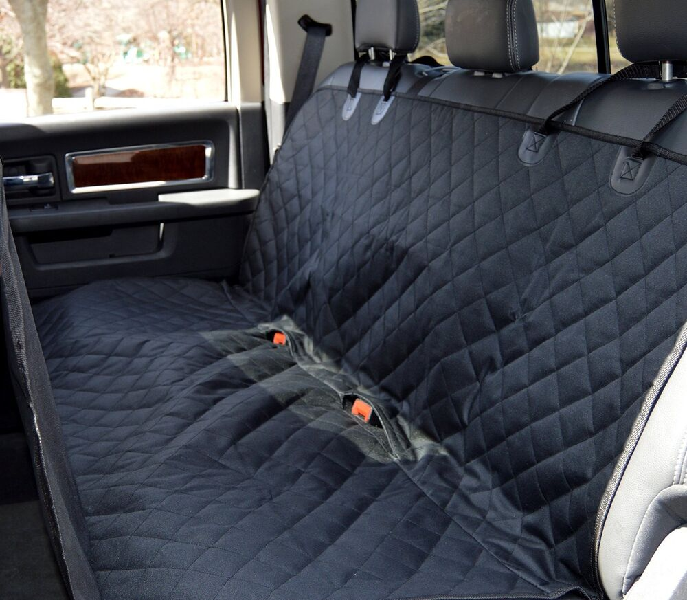 pet bench seat cover for cars suvs trucks guard protect leather dog cat hammock ebay. Black Bedroom Furniture Sets. Home Design Ideas