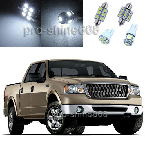 White Led Bulbs Interior Light Package For Ford F 150 Supercrew Cab 2004 2008 5x Ebay