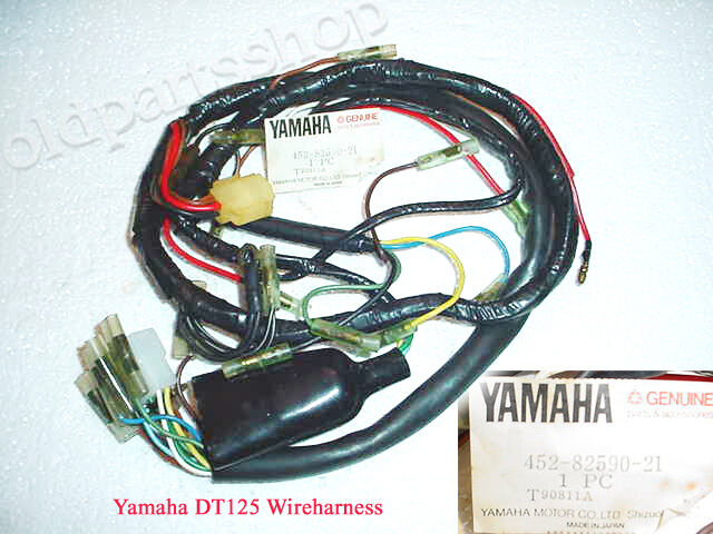 yamaha dt125 wireharness nos dt 125 loom 452-82590-21 wire ... nitrous wiring diagram nitrous wiring harness