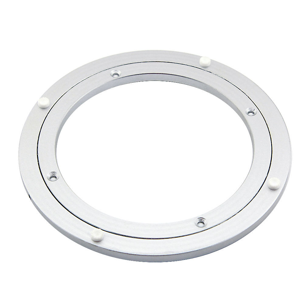 200mm round aluminum lazy susan rotating swivel turntable for Rotating dining table