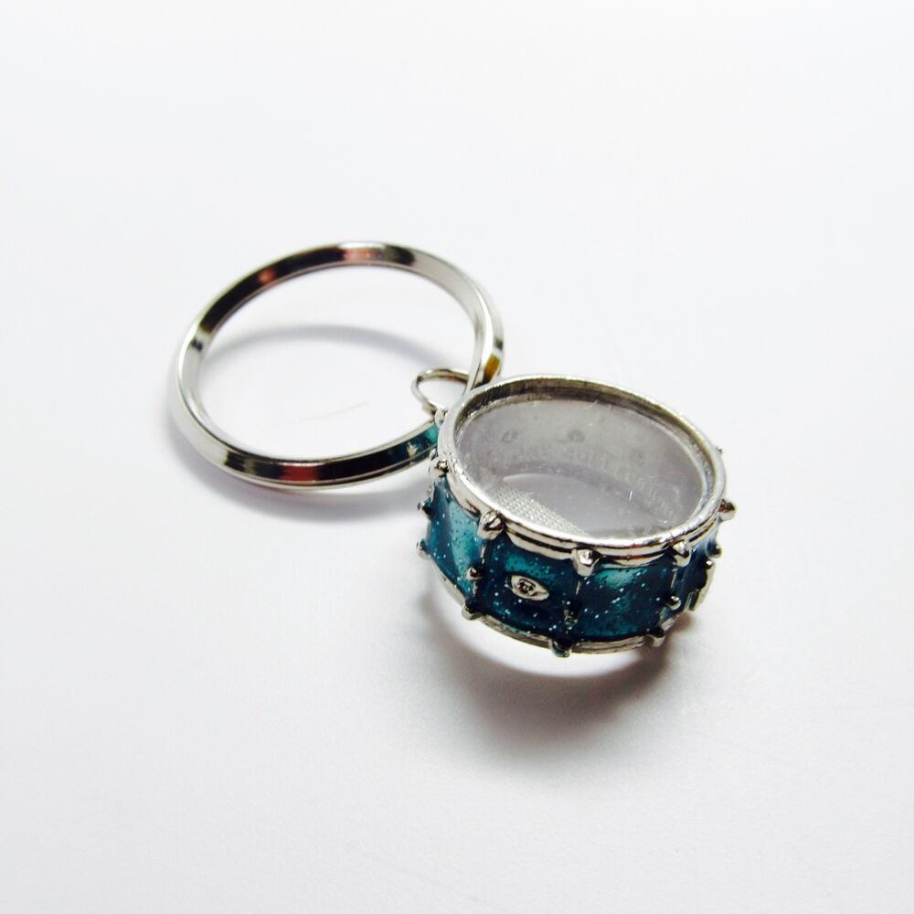 snare drum key chain sparkle blue nobel coole nwt music gifts jewelry ebay. Black Bedroom Furniture Sets. Home Design Ideas