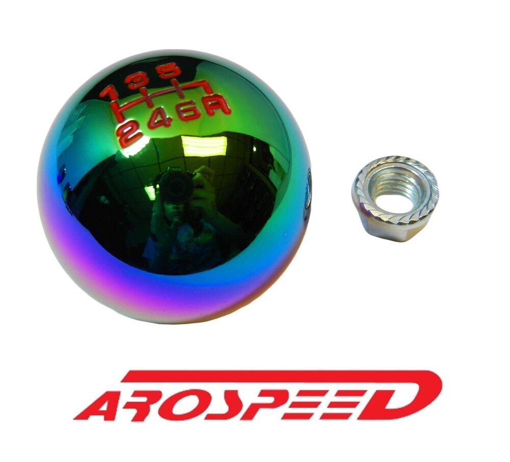 NEOCHROME BILLET ROUND RACING SHIFT KNOB FOR 02-06 ACURA