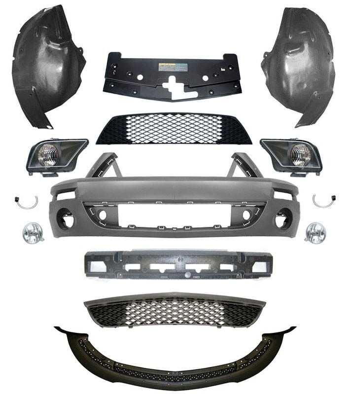 2005 Ford Mustang Front Bumper >> 05-09 Shelby GT500 Front End Conversion Kit, 4.6L | eBay