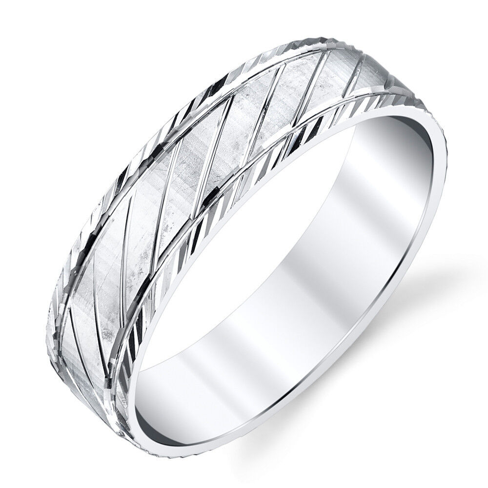 925 sterling silver mens wedding band ring size 8 9 10 for Silver band wedding rings