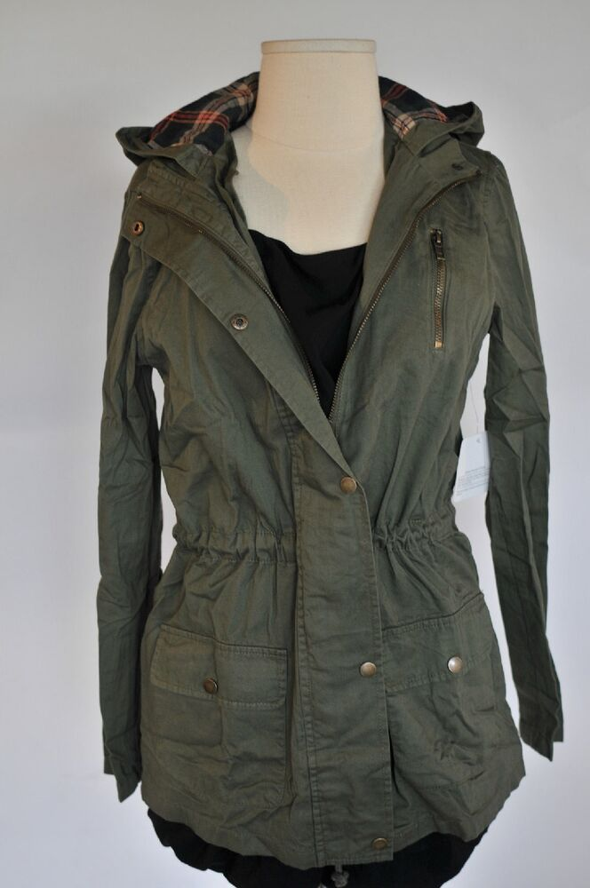 New Lightweight Military Army Green Jacket With Hoodie Elbow Patches Coat SML | EBay