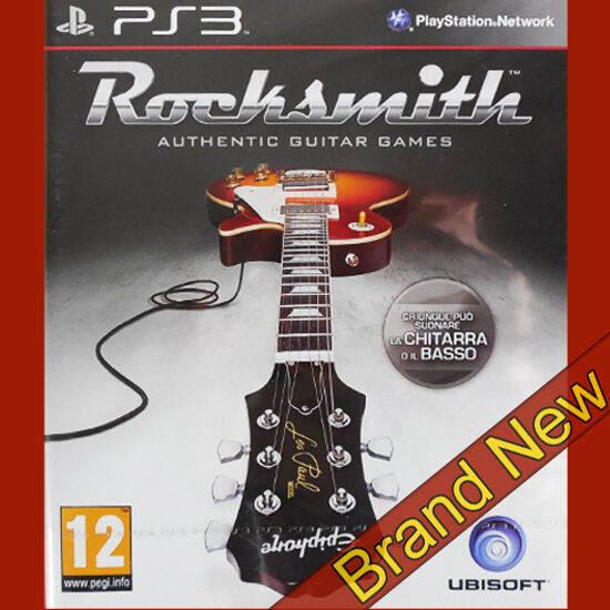 rocksmith authentic guitar games ps3 new sealed music game ebay. Black Bedroom Furniture Sets. Home Design Ideas