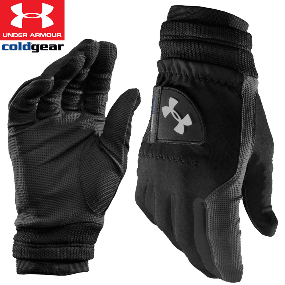 new 2017 under armour mens coldgear winter golf playing gloves 1 x pair ebay. Black Bedroom Furniture Sets. Home Design Ideas