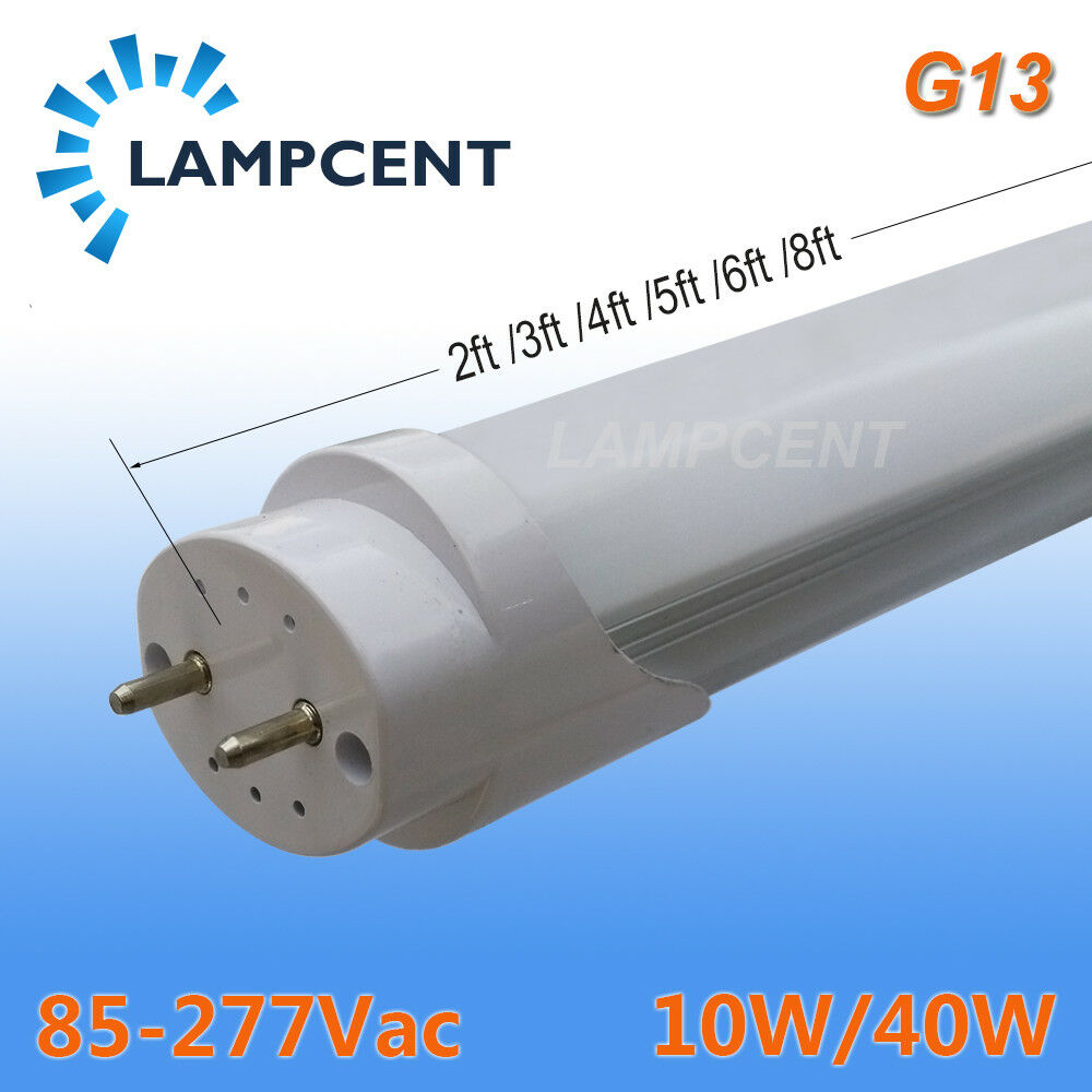 10/pack T8 LED TUBE bulb light HO lamp 8ft 40W R17D work ...