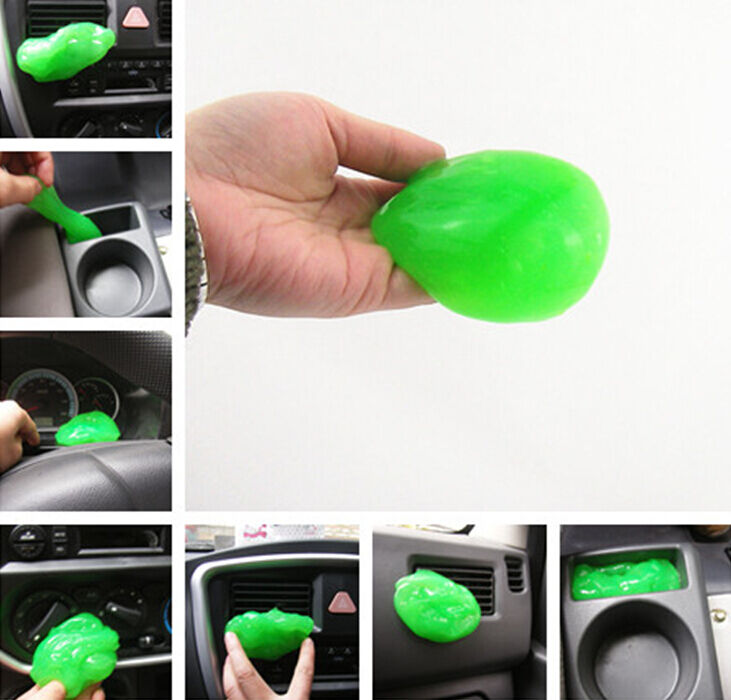 auto car clean glue gum gel cleaning air outlet vent dashboard interior cleaner ebay. Black Bedroom Furniture Sets. Home Design Ideas